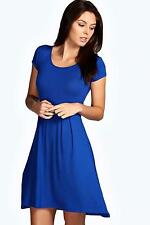 Boohoo Patternless Viscose Casual Dresses for Women