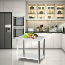 More details for commercial stainless steel kitchen food prep work table bench top work bench uk