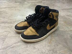Nike Air Jordan 1 Retro Melo Sneakers Men Size 9.5 Black Gold 332550-026 Beat