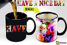 Heat Cup Sensitive Hot Reactive Changing Color Magic Coffee Mug Flowers Design .