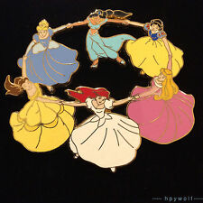 Disney Shopping PRINCESS RING DANCE Ariel Jasmine Belle Snow White Aurora Pin