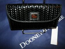 Dooney & Bourke Camden Woven Leather CONTINENTAL Clutch Wallet Black