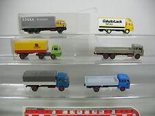 AI706-1# 6x Wiking H0 LKW/Lastwagen Magirus Deutz: Holert+Edeka+AutoLack etc