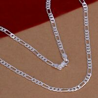 925 Silver Fashion noble Cute 4MM chain for pendant Necklace wedding women Men
