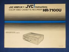 JVC HR-7100U VCR Owner Instruction Manual Original Real Thing Please Buy One  :)