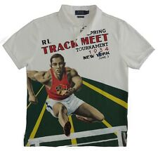Polo Ralph Lauren Pony Olympic Track Field Custom Slim Fit Track New York Shirt