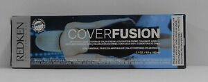 (New Pkg) Redken COVER FUSION Low Ammonia 100% Grey Coverage Hair Color ~ 2 oz.!