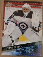 2020-21 UPPER DECK Serie 1,  #242,  Mikhail BERDIN YOUNG GUNS, Jets