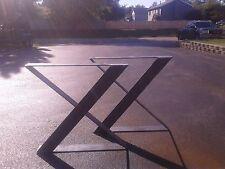 Metal Zig Zag Table Desk Bench Legs/Base