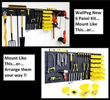 WallPeg Pegboard Kit -  6 Panels, 18 Storage Part Bins, and Flex-Lock Peg Hooks