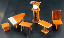 Vintage Miniature Wooden Doll House Furniture 1/24 scale made by PMS Furnishing