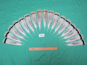 17 pcs Calico Turkey Tail  Feathers (Long 16-22cm / Fiber 40-50mm)*_*(1167)