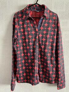 BODEN purple pattern  crinkled shirt    size  8 sample