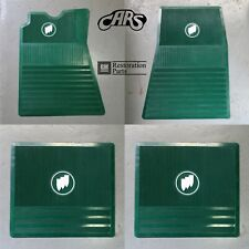 1961-1975 Buick Floor Mats | Green with Tri-Shield | Approved & Licensed by GM