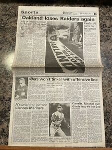 1990 Los Angeles Raiders Football Newspaper.  Staying In Los Angeles
