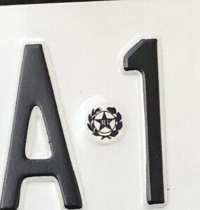(1 Pz) stemma Repubblica italiana per targa  replica adesiva per restauri