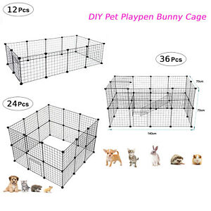 Pet Playpen DIY Small Animal Cage Fence 24/36 Panels for Kitten Bunny Chinchilla