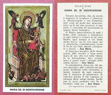 Santino Holy Card: Maria SS. di Montevergine