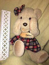 MANGO  TALENA MAGNETIC TEDDY BEAR IN RED PLAID DRESS PEEK A BOO Plush Doll NWOT