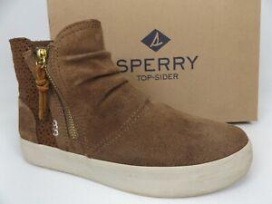 Sperry Kids Crest Zone Casual Sneaker, Big Girl's SZ 3.0 M, Chestnut Suede 18512