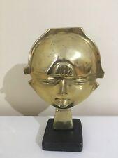 Vintage West African Tribal Art Bronze Mask