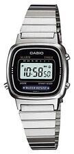 Casio LA670WA-1, Digital Watch, Silver-tone Metal Band, Alarm, Timer