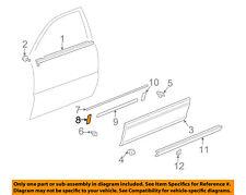 Lexus TOYOTA OEM 99-03 RX300 REAR DOOR-Body Side Molding Pad 7569648010