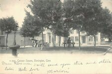 Connecticut postcard Stonington Cannon Square ca 1905