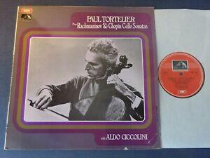 NM RACHMANINOV / CHOPIN - CELLO SONATAS LP, Tortelier, Ciccolini, EMI ASD 2587