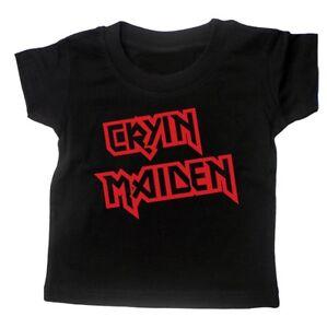 CRYIN MAIDEN BABY ROCK T SHIRT Iron Maiden Heavy Metal Band Music Gift Months BN