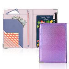 Glitter Leather Waiter Book with Zipper Pocket Server Wallet Waitress Organizer