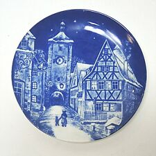 Weihnachtsteller Royal Bavaria 1977 Rothenburg Tauber