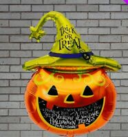 Halloween Pumpkin Foil Balloon Banner Kit Kids Party Decorations 70cm x 45cm