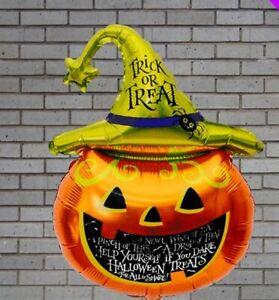 Halloween Pumpkin Foil Balloon Banner Kit Kids Party Decorations 70cm x 45cm