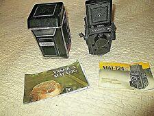 Appareil photo-YASHICA Mat-124G+Yashinon 80 mm 1:2,8 et Yashinon 1:3,5-caméra