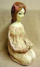"""Unique & Sweet 11"""" Paper Mache Doll"""
