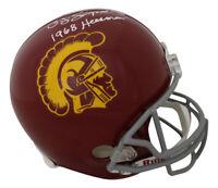 O.J. Simpson Autographed USC Trojans Replica Helmet 1968 Heisman JSA 26183