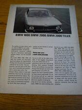 BMW 1800, 2000 & 2000 Tilux brochure JM