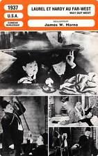 FICHE CINEMA : LAUREL ET HARDY AU FAR WEST - Laurel,Hardy 1937 Way Out West