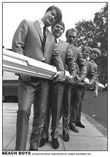 "BEACH BOYS POSTER ""OUTSIDE EMI STUDIOS 1964"""