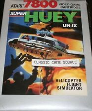 NEW FACTORY SEALED SUPER HUEY UH-IX GAME FOR ATARI 7800 PAL VERSION NOT FOR USA