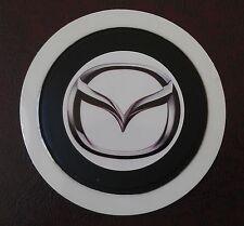 SELF CLING TAX DISC HOLDER FITS any car mazda   white pb