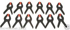 12 - pack  4''  PLASTIC SPRING CLAMPS GRIPS CLIPS HARD PLASTIC