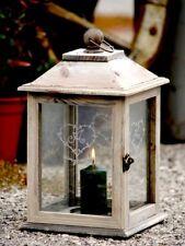 HOLZ LATERNE Kerzenhalter Windlicht Glas * RomanticLINE