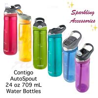 NEW Contigo Autospout Drink Water Bottle Straw 24oz/ 709mL BPA-Free & Leakproof!