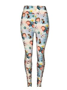 Dumbo Leggings One Size Cotton Candy Bckgrnd Mouse Balls Wheels Roses OS Soft