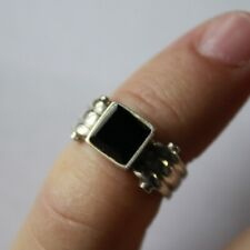 Antique Elegant Ring SILVER 925 with Natural Stone SIZE 5 3/4 #S079