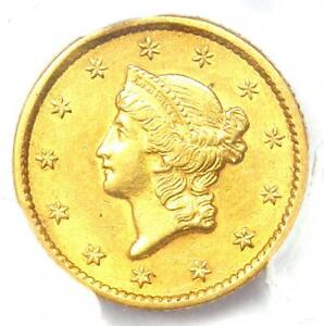 1852 Liberty Gold Dollar G$1 Coin - Certified PCGS AU55 - Rare Coin!