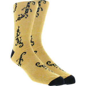 K.Bell KurB Lizard Men's Skate Socks - YELLOW - SIZE 9-12 - NEW WITH TAGS!