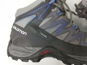 Salomon Mens Black Gray Pathfinder  3 Mid Gore Tex 382126 Hiking Shoes Size US 6